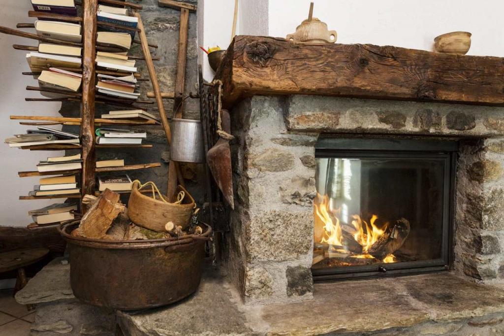 Appartamento casa vacanza kaporo bionaz valle aosta alloggio for Casa montagna camino